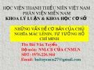 Bài giảng Những vấn đề cơ bản của chủ nghĩa Mác-Lênin, tư tưởng Hồ Chí Minh - Bài 1: Những vấn đề cơ bản của chủ nghĩa duy vật biện chứng