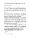 Thiết lập các công thức tính toán thành phần tĩnh và động của tải trọng gió trong dự thảo TCVN 2737 : 2011