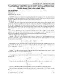 Phương pháp kiểm tra sai số vượt giới hạn trong các trị đo quan trắc lún công trình