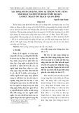 Xác định, đánh giá hàm lượng sắt trong nước giếng sinh hoạt tại một số hộ dân trên địa bàn xã Phúc Trạch - Bố Trạch - Quảng Bình