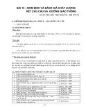 Bài giảng Bài 10: Kiểm định và đánh giá chất lượng kết cấu cầu và đường giao thông
