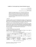 Nghiên cứu tổng hợp mạng tinh thể Spinen MgAl2O4