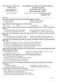 Đề thi KSCL môn Lịch sử lớp 12 năm 2017-2018 - Sở GD&ĐT Quảng Nam - Mã đề 504