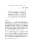 Cảm thức văn hóa trong thơ Ngô Văn Phú