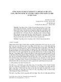 Công bằng xã hội về kinh tế và mối quan hệ giữa tăng trưởng kinh tế với thực hiện công bằng xã hội ở Việt Nam
