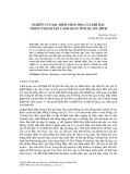 Nghiên cứu đặc điểm phân hóa của khí hậu trong thành tạo cảnh quan tỉnh Quảng Bình