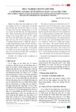 Thực nghiệm chuyển giới tính cá rô đồng (anabas testudineus) toàn cái tại Trà Vinh