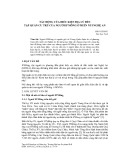 Tác động của điều kiện địa lý đến tập quán cư trú của người H'mông ở miền núi Nghệ An