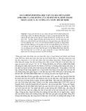 Quá trình sinh sống, học tập của Bác Hồ tại Huế (1906-1909) và ảnh hưởng của nó đối với sự hình thành nhân cách và Tư tưởng cứu nước Hồ Chí Minh