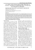 Cau chuột A Đang (Pinanga adangensis Ridl.) Thuộc họ cau (Arecaceae) - Loài bổ sung cho khu hệ thực vật Việt Nam tại Vườn quốc gia Phú Quốc