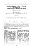 Thành phần hoá học cao Ethyl acetate của cây Bạch đầu ông Vernonia cinerea (L.) Less, họ cúc (Asteaceae)