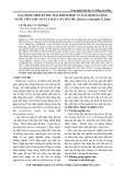 Xác định thời kì thu hái thích hợp và xác định lượng nước tiêu chuẩn của hạt cây Sến mủ (Shorea roxburghii G.Don)