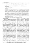 Nghiên cứu cải thiên tính chất Vật Lý và cơ học của gỗ Xoan ta (Melia azedarach L.) bằng hóa chất