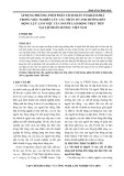 Áp dụng phương pháp phân tích nhân tố khám phá trong việc nghiên cứu các nhân tố ảnh hưởng đến động lực làm việc của người lao động trực tiếp tại tập đoàn Sentec Việt Nam