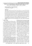 Nghiên cứu ảnh hưởng của một số ion đến việc xác định hàm lượng Phophat trong tự nhiên