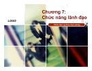 Bài giảng Khoa học quản lý đại cương: Chương 7 - Vũ Thị Cẩm Thanh