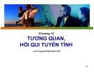 Bài giảng Nguyên lý thống kê: Chương 10 - Nguyễn Ngọc Lam (2017)