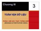 Bài giảng Nhập môn an toàn hệ thống thông tin: Chương 3 - Trần Thị Kim Chi (P2)