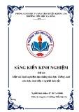 SKKN: Một vài kinh nghiệm tạo hứng thú học tiếng Anh cho học sinh lớp 3 người dân tộc