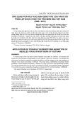 Ứng dụng PCR-RFLP xác định genotype của virut sởi phân lập được ở một số tỉnh miền bắc Việt Nam (2006-2013)