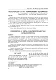 Điều chế nước cất pha tiêm trong điều kiện dã ngoại
