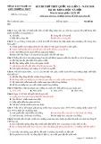 Đề thi thử THPT Quốc gia lần 2 năm 2018 môn Lịch sử - Sở GD&ĐT Nghệ An - Mã đề 322