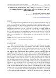 Nghiên cứu sự sinh trưởng, phát triển và năng suất nấm vân chi (Trametes versicolor(l.) pilat) trồng trên các loại giá thể tại Thừa Thiên Huế