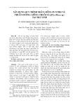 Xây dựng quy trình nhân giống in vitro và thuần dưỡng giống chuối tá quạ (Musa sp.) tại Trà Vinh