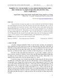 Nghiên cứu tách chiết và xác định thành phần hóa học tinh dầu sa nhân ở Hương Hồ, Hương Trà, Thừa Thiên Huế