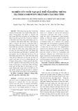 Nghiên cứu nuôi tạo quả thể nấm đông trùng hạ thảo (Cordyceps militaris) tại Trà Vinh