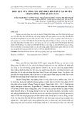 Hiệu quả của công tác dồn điền đổi thửa tại huyện Thăng Bình, tỉnh Quảng Nam