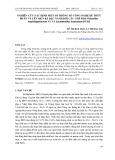 Nghiên cứu xác định một số thông số công nghệ để thủy phân và lên men bã đậu nành bởi các chế phẩm Bacillus amyloliquefaciens N1 và Lactobacillus fermentum DC4t2
