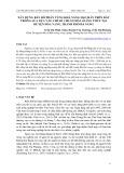 Khả năng chắn cát và cải tạo đất của các đai rừng phòng hộ trên vùng cát ven biển ở xã Điền Hòa và Điền Hương, huyện Phong Điền, tỉnh Thừa Thiên Huế