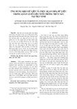 Ứng dụng kho dữ liệu và trực quan hóa dữ liệu trong quản lí số liệu nuôi trồng thủy sản tại Trà Vinh