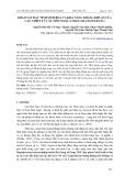 Khảo sát đặc tính sinh hóa và khả năng kháng khuẩn của cao chiết từ cây Môn Ngọt (Colocasia esculenta)