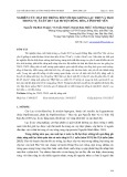 Nghiên cứu mật độ trồng đối với hai giống lạc TB25 và TK10 trong vụ xuân 2017 tại huyện Đông Hòa, tỉnh Phú Yên