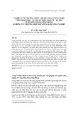 Nghiên cứu phương thức chuyển giao công nghệ thích hợp phục vụ phát triển kinh tế - xã hội vùng Đồng bằng sông Hồng (Nghiên cứu trường hợp đối với ngành nông nghiệp)