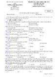 Đề kiểm tra chất lượng HK 1 môn Hóahọc lớp 11 năm 2017-2018 - THPT Phan Đình Phùng - Đề số 3