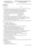 Đề kiểm tra HK 2 môn Lịch sử lớp 12 năm 2017-2018 - THPT Phạm Công Bình - Mã đề 485