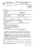Đề kiểm tra HK 2 môn Địa lí lớp 12 năm 2017-2018 - THPT Phạm Công Bình - Mã đề 132