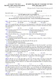 Đề kiểm tra HK 2 môn Hóa học lớp 12 năm 2017-2018 - THPT Phạm Công Bình - Mã đề 102