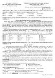 Đề kiểm tra HK 2 môn tiếng Anh lớp 12 năm 2017-2018 - THPT Phạm Công Bình - Mã đề 485