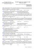 Đề kiểm tra HK 2 môn Vật lí lớp 12 năm 2017-2018 - THPT Phạm Công Bình - Mã đề 357
