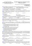 Đề kiểm tra HK 2 môn Vật lí lớp 12 năm 2017-2018 - THPT Phạm Công Bình - Mã đề 209