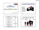Bài giảng môn học Quản trị bán hàng: Chương 5 - ThS. Huỳnh Hạnh Phúc