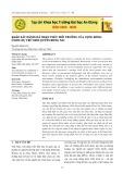 Khảo sát đánh giá nhận thức môi trường của cộng đồng ở khu dự trữ sinh quyển Đồng Nai
