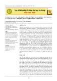 Ảnh hưởng của các mức đạm và biện pháp bón thấm urê đến sinh trưởng và năng suất lúa trên đất phù sa tại Bình Minh - Vĩnh Long