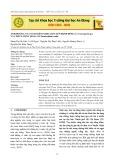 Ảnh hưởng của nano kẽm oxid (ZnO) lên bệnh đốm lá (Cercospora sp.) và chất lượng hoa lan Dendrobium sonia