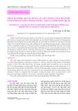 Phân tích hiệu quả sử dụng các yếu tố đầu vào cho nghề nuôi tôm thẻ chân trắng thâm canh của tỉnh Ninh Thuận