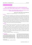 Đề xuất mô hình chuỗi cung ứng thực phẩm hải sản tươi sống khả thi, phù hợp với điều kiện của tỉnh Khánh Hòa